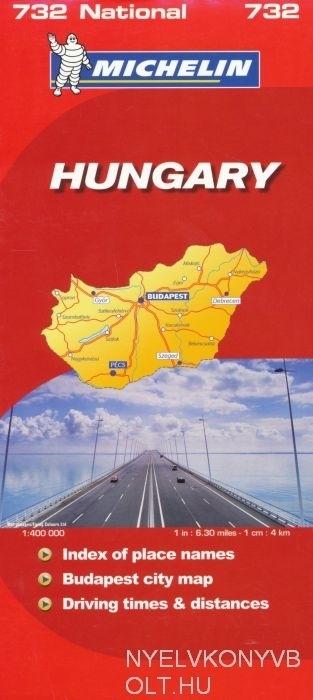 Michelin Hungary Map 1:400 000