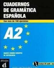 Cuadernos de gramática Espanola con más de 100 ejercicios A2 - incluye CD audio - MP3