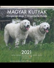Magyar kutyák falinaptár 2021 (22x22)