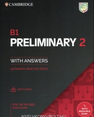 B1 Preliminary 2 for the Revised 2020 Exam - Authentic Practice Tests with Audio Download