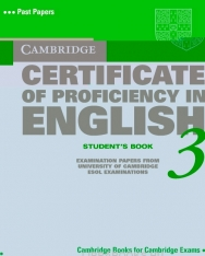 Cambridge Certificate of Proficiency in English 3 Official Examination Past Papers Student's Book without Answers