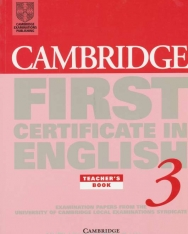 Cambridge First Certificate in English 3 Examination Papers Teacher's book