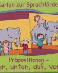 Bildkarten zur Sprachförderung - Präpositionen: über, unter, auf, vor...