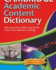 Cambridge Academic Content Dictionary paperback with CD-ROM