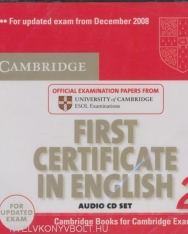 Cambridge First Certificate in English 2 Official Examination Past Papers Audio CDs (2) for Updated Exam 2008 (Practice Tests)