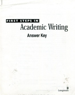 First Steps in Academic Writing - 1st Edition Answer Key