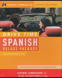 Living Language - Drive Time Spanish Deluxe Package Beginner-Advanced - 8 Audio CDs Pack