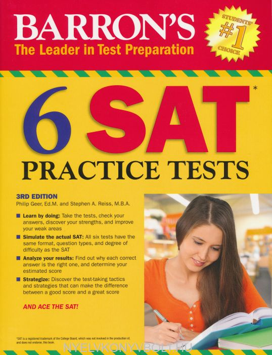 Barron's 6 SAT Practice Tests 3rd Edition