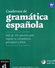 Cuadernos de gramática Espanola con más de 100 ejercicios para mejorar tu competencia gramatical y léxica B1 - incluye CD audio - MP3