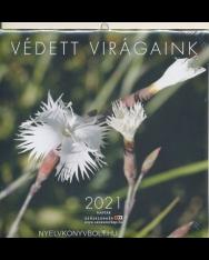 Védett virágaink falinaptár 2021 (22x22)