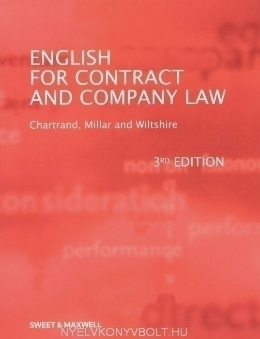 English for contract and company law 3rd edition
