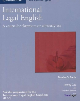 International Legal English Teacher's Book 1st Edition