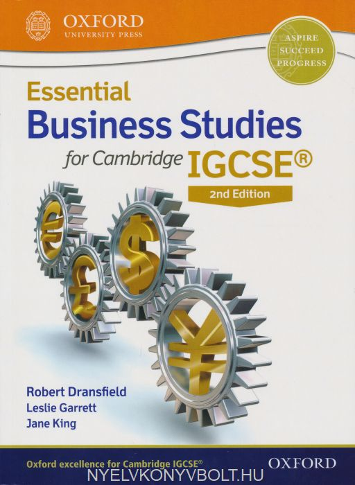Essential Business Studies for Cambridge IGCSE® Student Book 2nd Edition