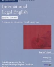 International Legal English Teacher's Book - Second Edition