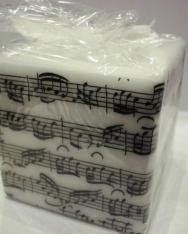 Gyertya - kottás, kocka alakú
