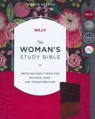 The NKJV, Woman's Study Bible, Leathersoft, Brown/Burgundy, Red Letter, Full-Color: Receiving God's Truth for Balance, Hope, and Transformation
