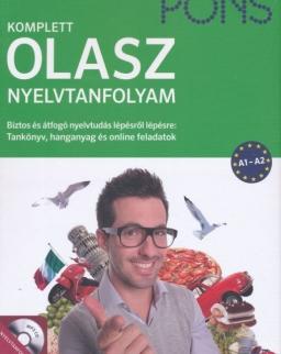 Pons Komplett Olasz Nyelvtanfolyam A1-A2 - Tankönyv, hanganyag és online feladatok