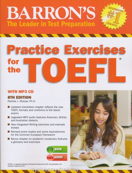 Barron's Practice Exercises for the TOEFL 8th Edition with MP3 CD
