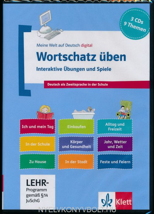 Wortschatz üben: Interaktive Übungen und Spiele - 3 CD-ROMs + Booklet