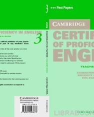 Cambridge Certificate of Proficiency in English 3 Official Examination Past Papers Teacher's Book