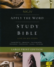 NKJV - Apply the Word Study Bible, Large Print, Leathersoft, Brown, Red Letter Edition - Live in His Steps