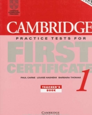 Cambridge Practice Tests for First Certificate 1 Teacher's book