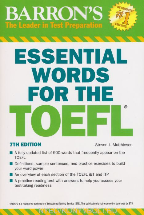 Barron's Essential Words for the TOEFL 7th Edition