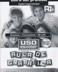 Uso escolar Aula de gramática A2+ Libro del profesor - Soluciones + Transcriptiones + CD audio