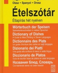 Ételszótár - Étlapírás hét nyelven - Magyar - Német - Angol - Francia - Olasz - Spanyol - Orosz