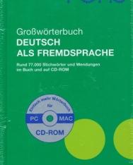 PONS Grosswörterbuch Deutsch als Fremdsprache mit CD-ROM