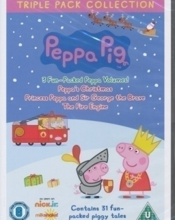 Peppa Pig Triple Pack (Princess Peppa, Fire Engine and Peppa's Christmas) DVD