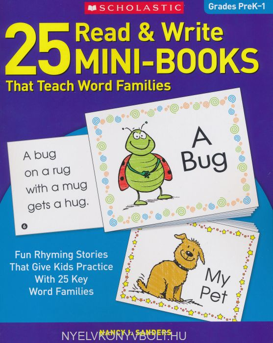 25 Read & Write Mini-Books: That Teach Word Families