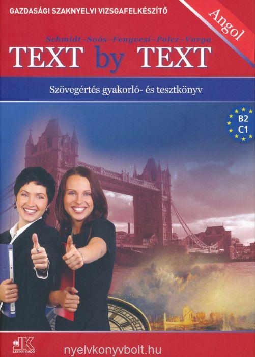 Text by Text - Szövegértés gyakorló- és tesztkönyv
