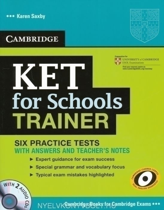 Cambridge KET for Schools Trainer with 2 Audio CDs