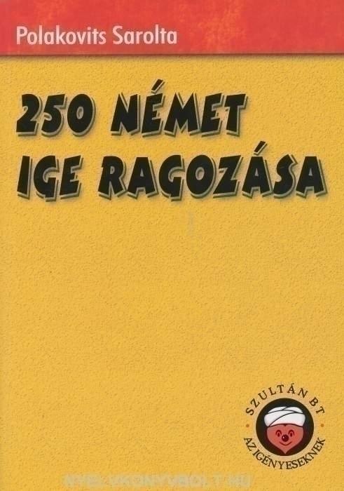 250 Német Ige Ragozása