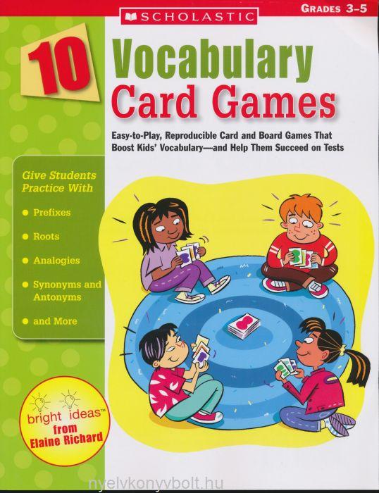 10 Vocabulary Card Games