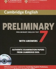 Cambridge Preliminary English Test 7 with Answers: Examination Papers from University of Cambridge ESOL Examinations