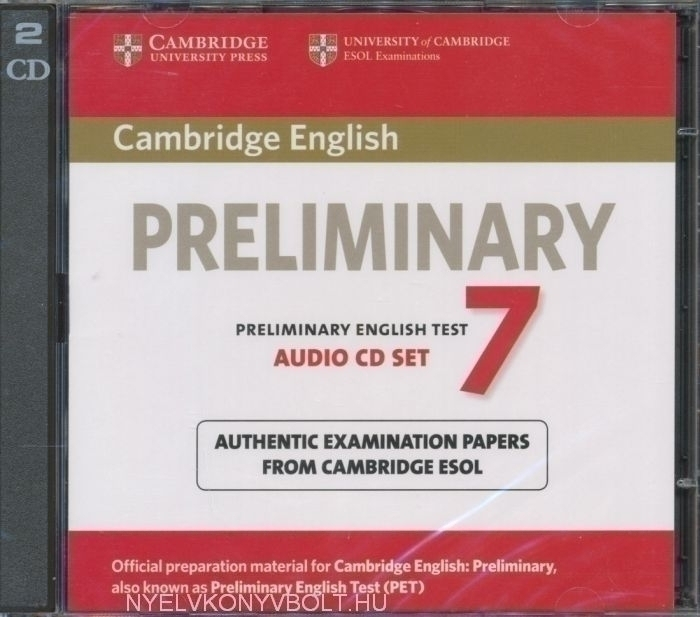Cambridge English Preliminary English Test 7 Audio CD SET