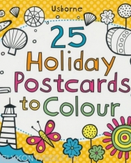 25 Holiday Postcards to Colour