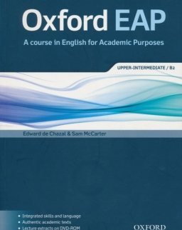 OXFORD EAP - A course in English for Academic Purposes Upper-Intermediate B2 Student's Book with DVD-Rom