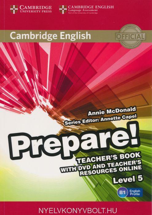 Cambridge English Prepare! Teacher's Book Level 5 with DVD & Teacher's Resource Online