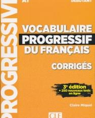 Vocabulaire progressif du français - Niveau débutant - 3eme édition - Corrigés
