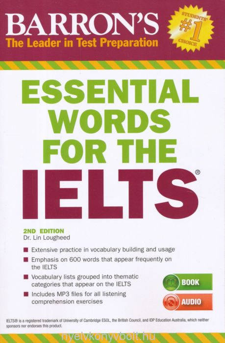 Barron's Essential Words for the IELTS with Mp3 Audio CD - 2nd Edition