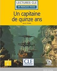 Un capitaine de 15 ans - Niveau 1/A1 - Lecture CLE en français facile - Livre + Audio téléchargeable