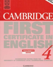 Cambridge First Certificate in English 4 Examination Papers Teacher's book