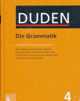 Duden 4. Die Grammatik (9. Auflage) - Untentberlich für richtiges Deutsch