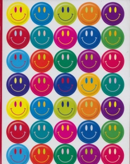 Smiley Faces Stickers- 200 Stickers