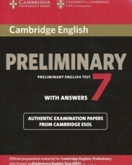 Cambridge Preliminary English Test 7 with Answers: Examination Papers from University of Cambridge ESOL