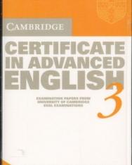 Cambridge Certificate in Advanced English 3 Cassettes