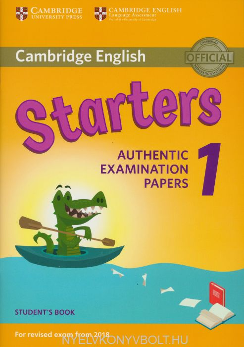 Cambridge English Starters 1 Student's Book for Revised Exam from 2018